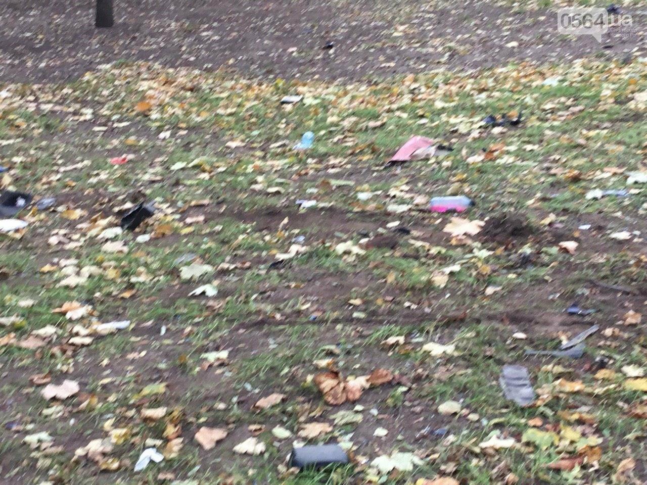 Куски стекла и обшивки разбившейся в Кривом Роге иномарки разлетелись на десятки метров, - ФОТО, фото-5