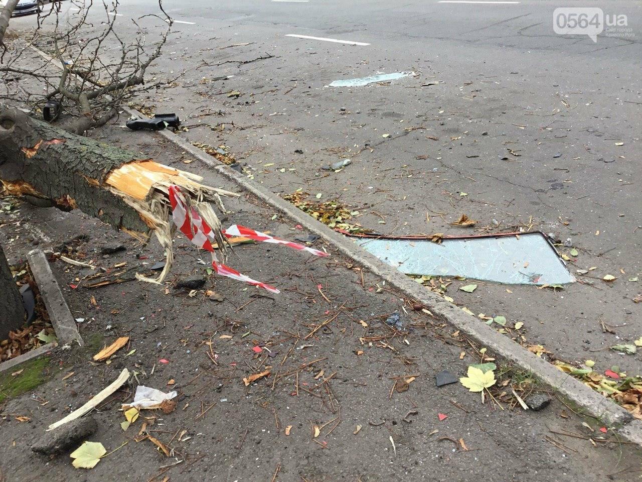 Куски стекла и обшивки разбившейся в Кривом Роге иномарки разлетелись на десятки метров, - ФОТО, фото-15