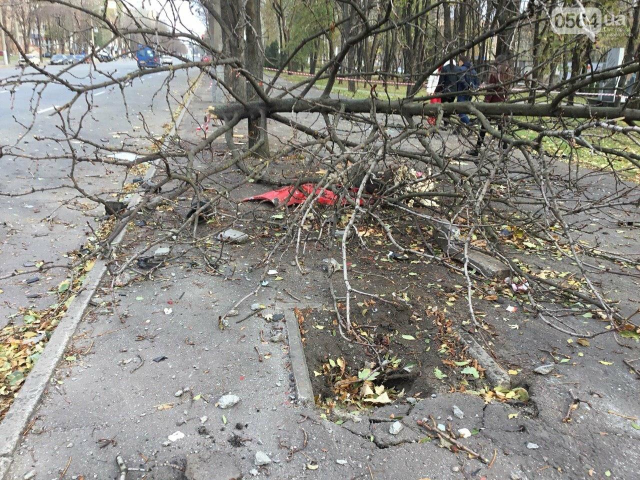 Куски стекла и обшивки разбившейся в Кривом Роге иномарки разлетелись на десятки метров, - ФОТО, фото-21
