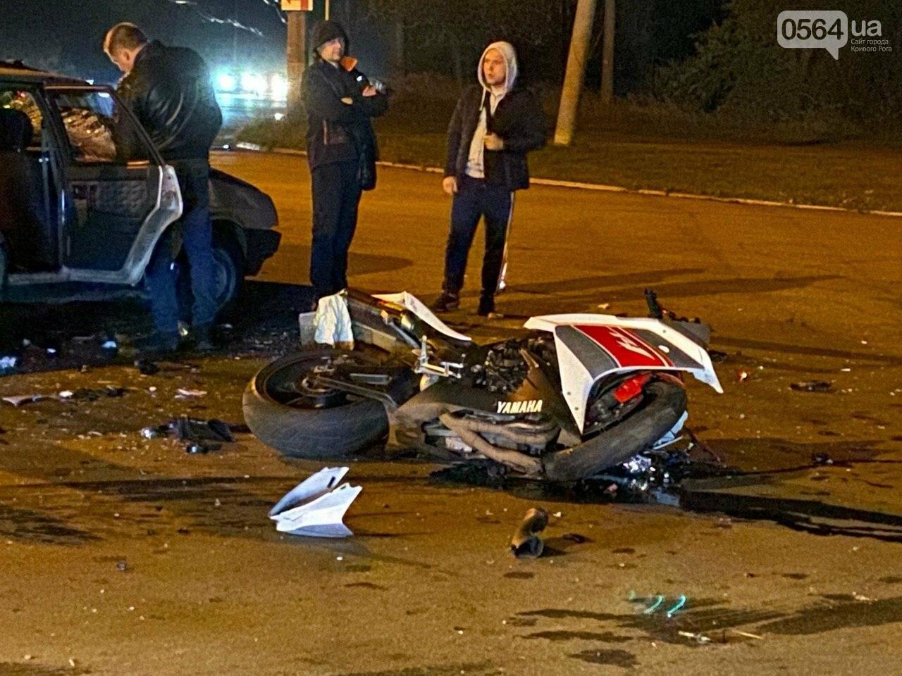 Тройное ДТП в Кривом Роге - дорогу не поделили мотоцикл и две легковушки. Есть пострадавшие, - ФОТО, ВИДЕО, фото-10