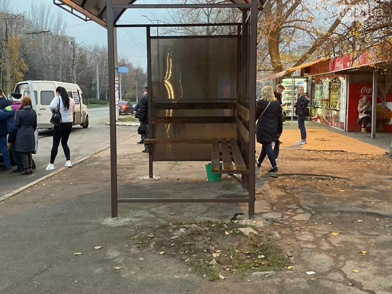 В Кривом Роге предприниматель помогла благоустроить остановку общественного транспорта, - ФОТО, фото-13