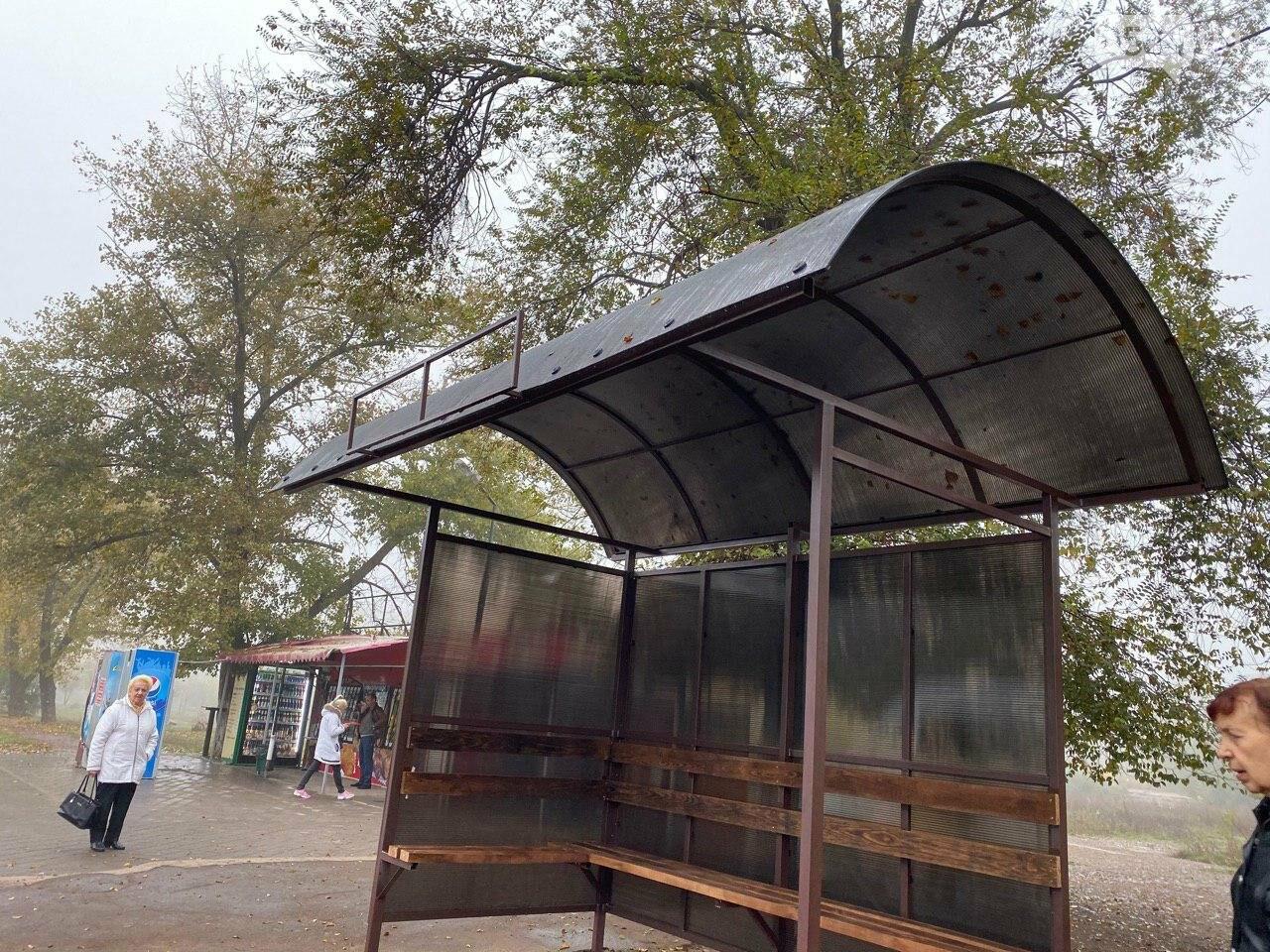 В Кривом Роге предприниматель помогла благоустроить остановку общественного транспорта, - ФОТО, фото-7