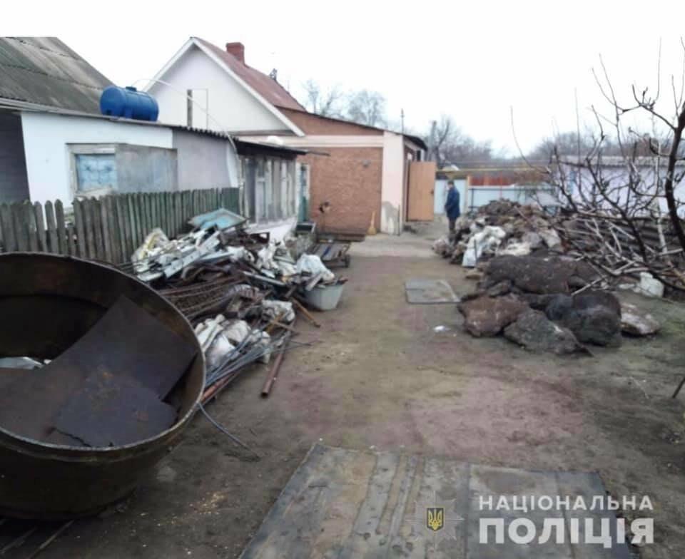 Криворожанин незаконно организовал у себя во дворе металлоприемку, - ФОТО , фото-2