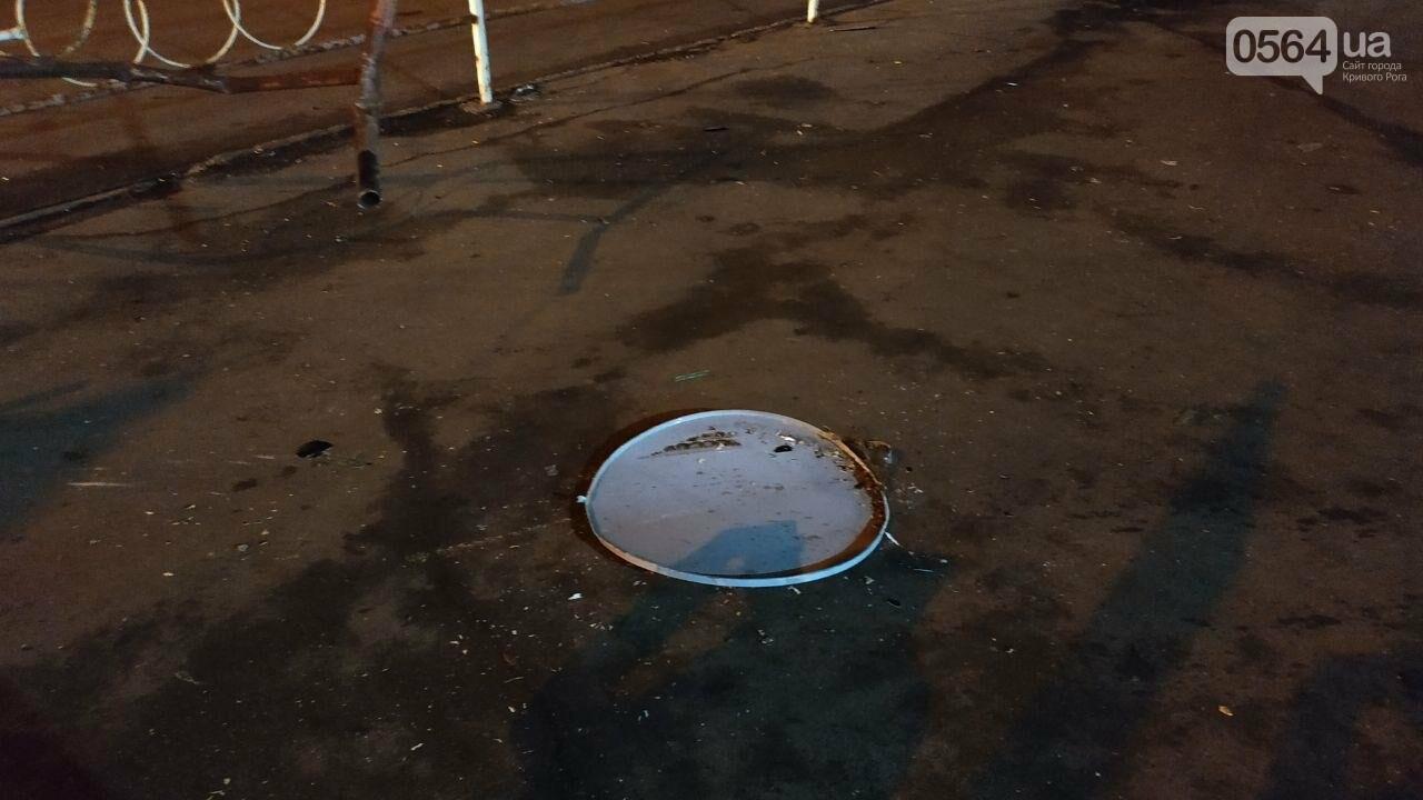 На площади Героев Кривбасса джип снес забор, два знака и застрял, - ФОТО , фото-12