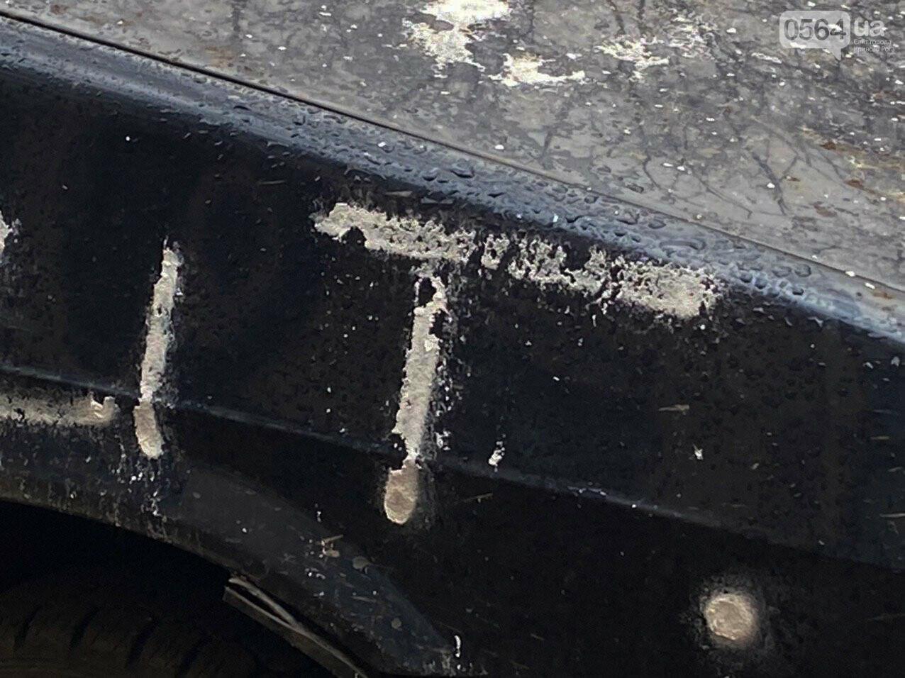 """""""За рулем бандит"""": в Кривом Роге ночью обрисовали припаркованный во дворе автомобиль, - ФОТО , фото-3"""