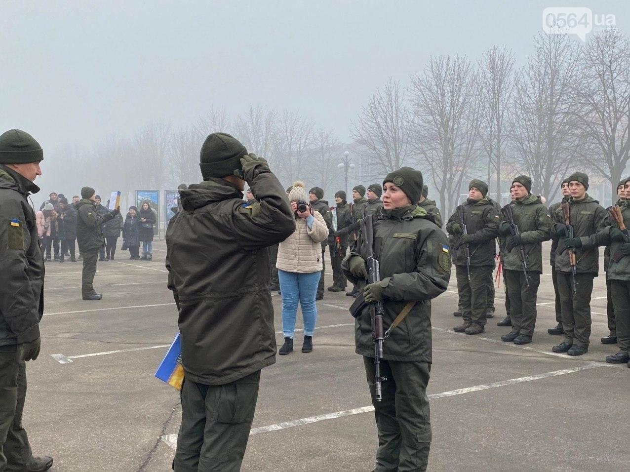 В Кривом Роге на верность украинскому народу присягнули 43 нацгвардейца, - ФОТО, ВИДЕО , фото-45