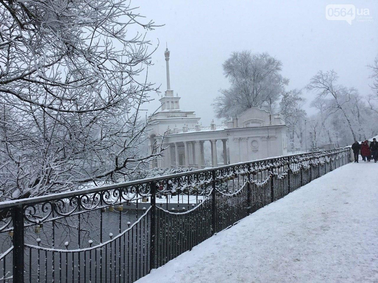 Кривой Рог на Крещение дождался снега, но местами, - ФОТО, фото-1