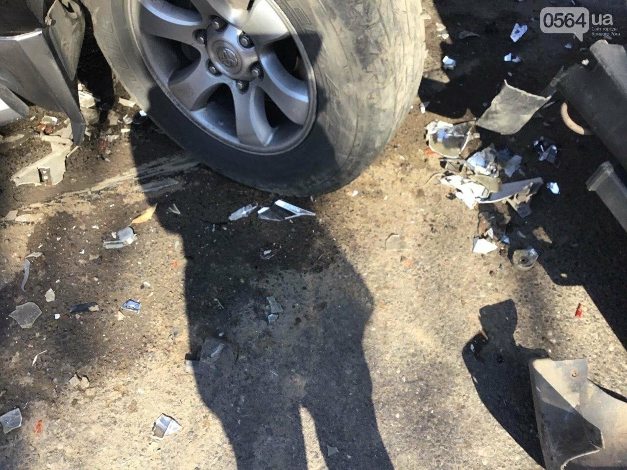 На центральном проспекте Кривого Рога столкнулись 4 автомобиля, - ФОТО, фото-13
