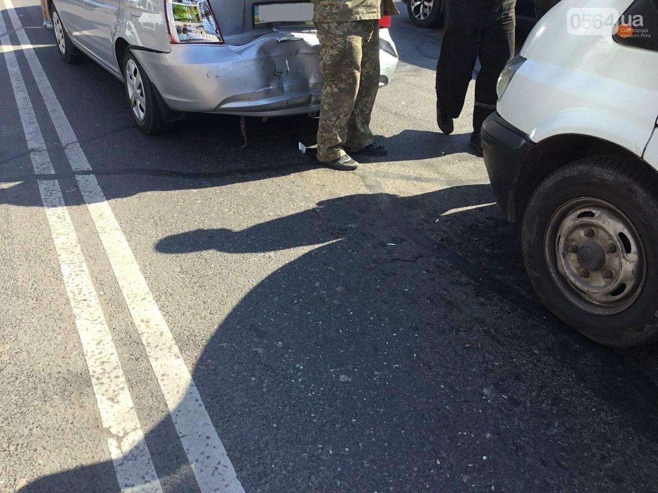 На центральном проспекте Кривого Рога столкнулись 4 автомобиля, - ФОТО, фото-9