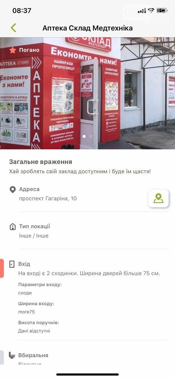 В Украине запустили приложение доступности городов для людей с инвалидностью. Кривой Рог есть на карте, - ФОТО , фото-5