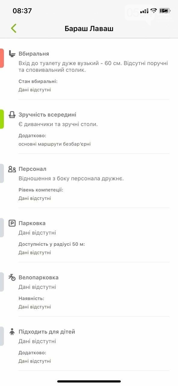 В Украине запустили приложение доступности городов для людей с инвалидностью. Кривой Рог есть на карте, - ФОТО , фото-8