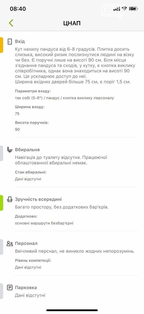 В Украине запустили приложение доступности городов для людей с инвалидностью. Кривой Рог есть на карте, - ФОТО , фото-16