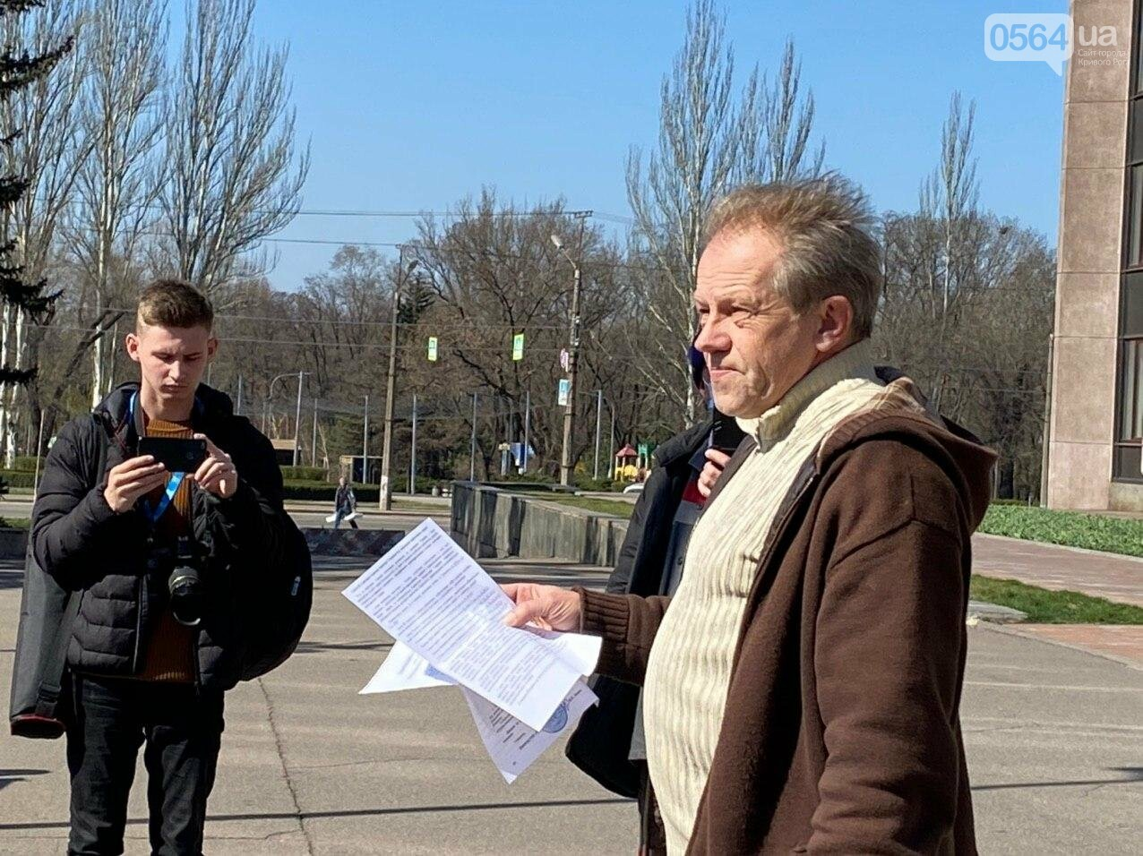 Криворожские предприниматели устроили акцию под горсоветом, - ФОТО, ВИДЕО, фото-8