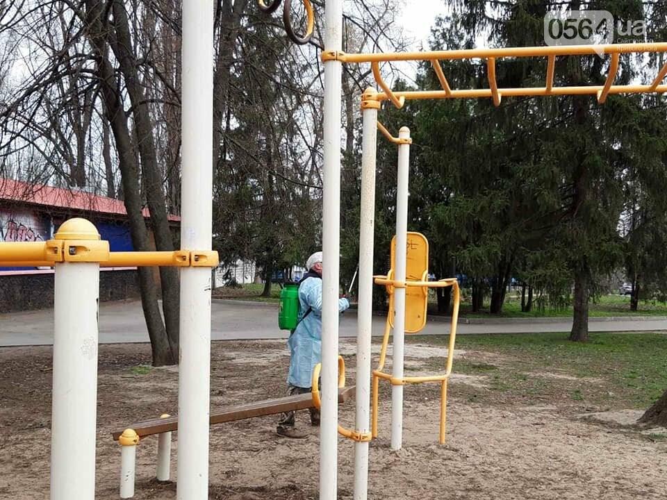 В одном районе Кривого Рога начали дезинфицировать детские и спортивные площадки во время карантина, - ФОТО  , фото-7