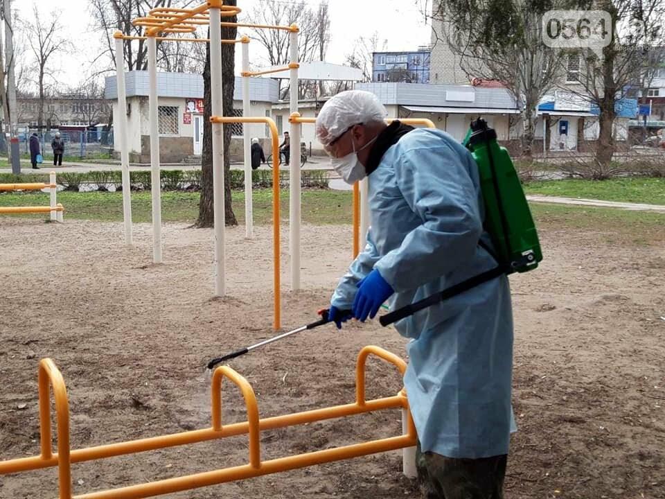 В одном районе Кривого Рога начали дезинфицировать детские и спортивные площадки во время карантина, - ФОТО  , фото-12