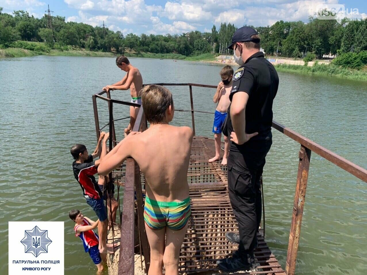 В Кривом Роге патрульные провели беседы с отдыхающими у воды детьми, - ФОТО , фото-1