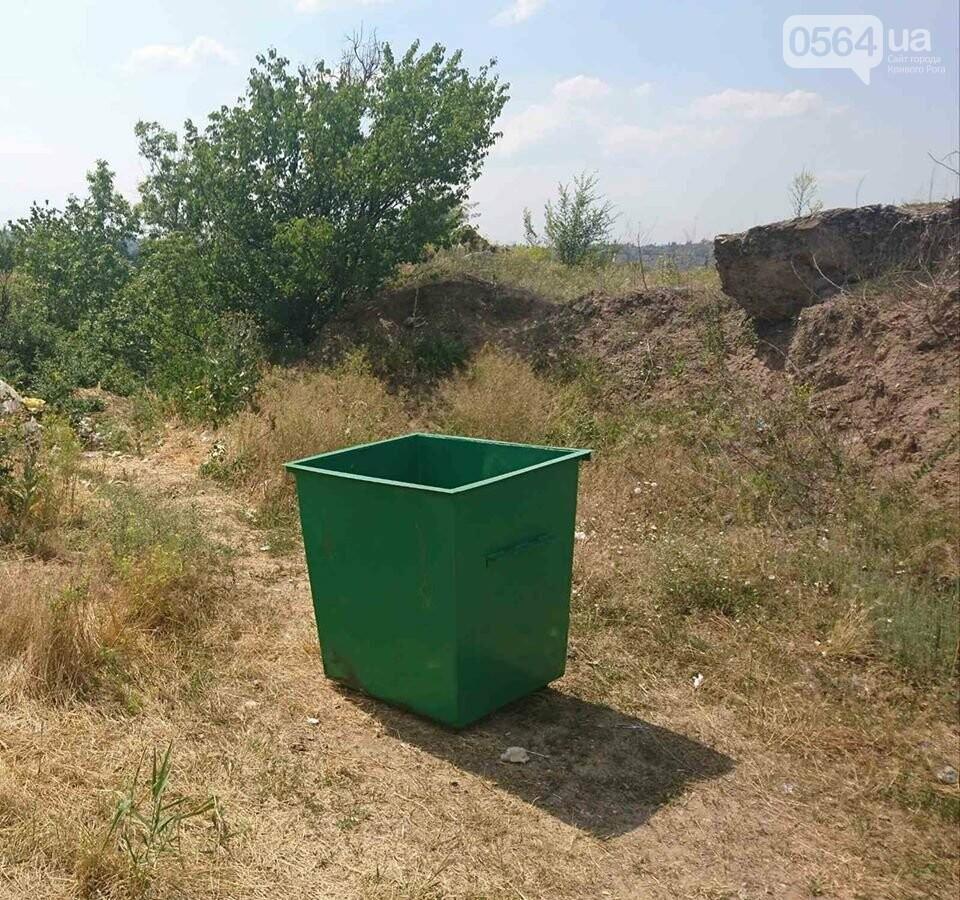 В Кривом Роге для сохранения экологии рекреационной зоны установили мусорный контейнер, - ФОТО, фото-1