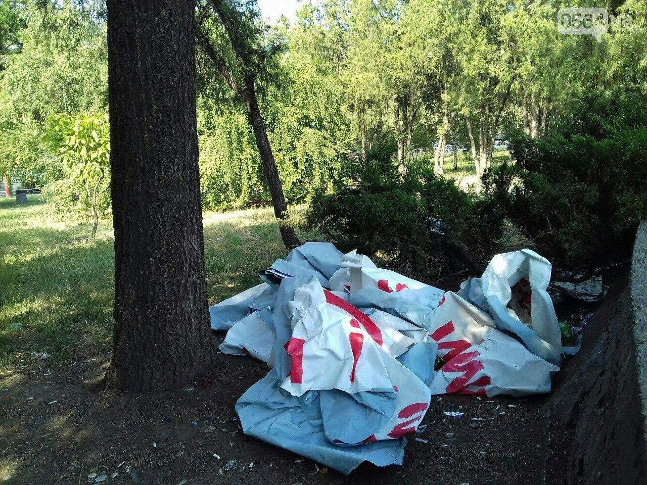 В сквере на центральной площади Кривого Рога воцарилась разруха, - ФОТО, фото-7