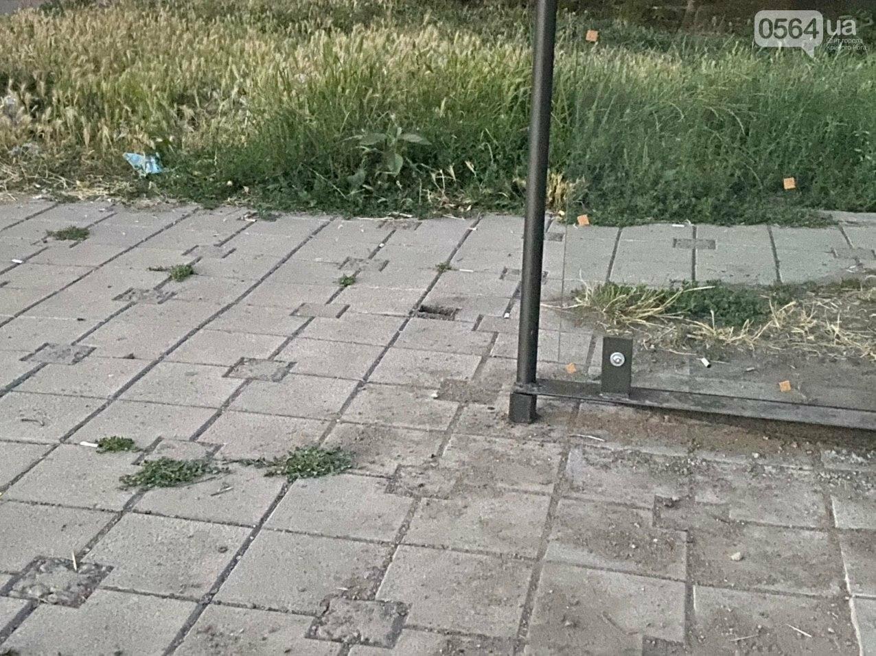 """""""Опять вандалы?"""": почему в Кривом Роге на новой остановке нет стекла, - ФОТО , фото-12"""