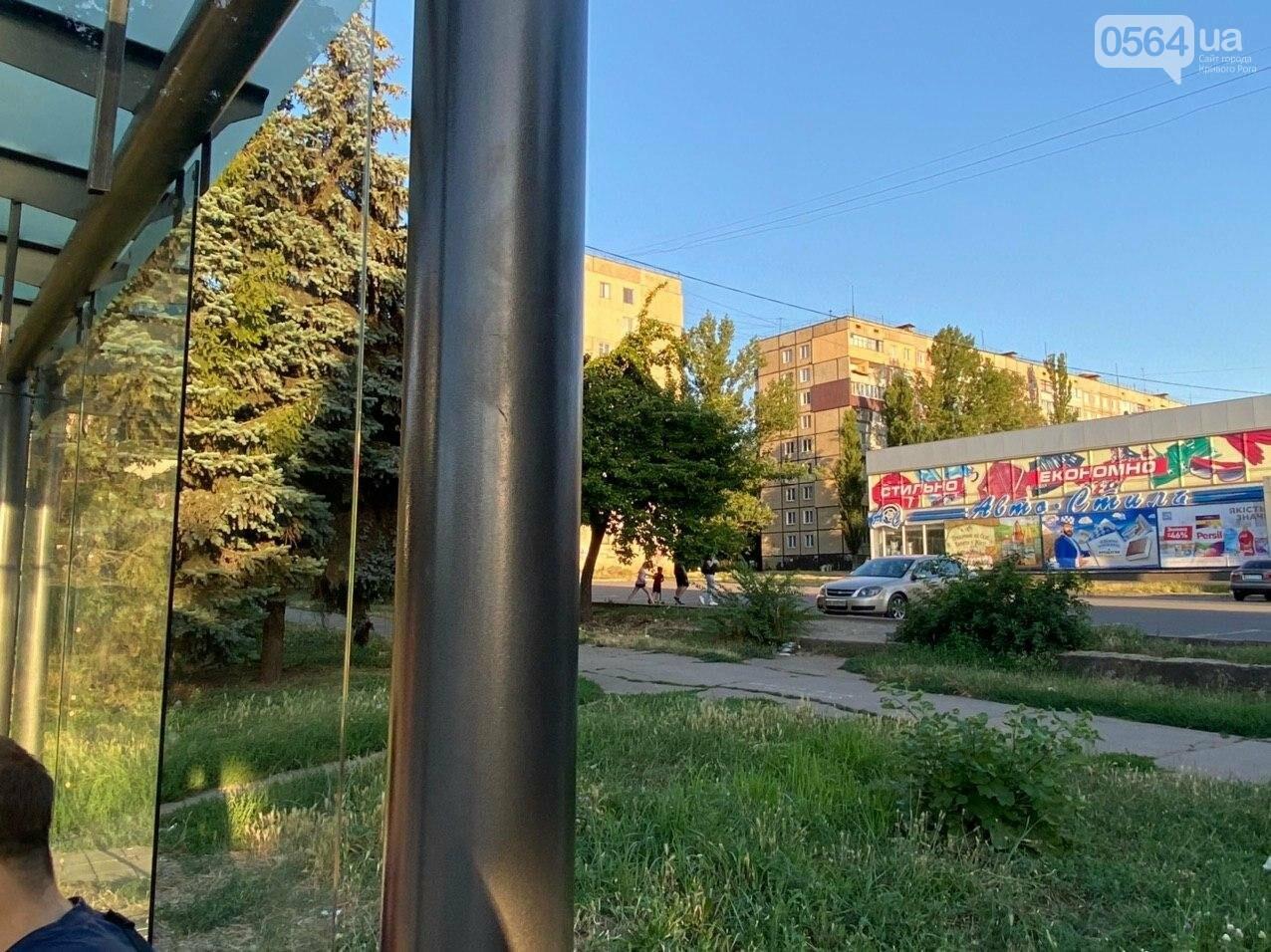 """""""Опять вандалы?"""": почему в Кривом Роге на новой остановке нет стекла, - ФОТО , фото-5"""