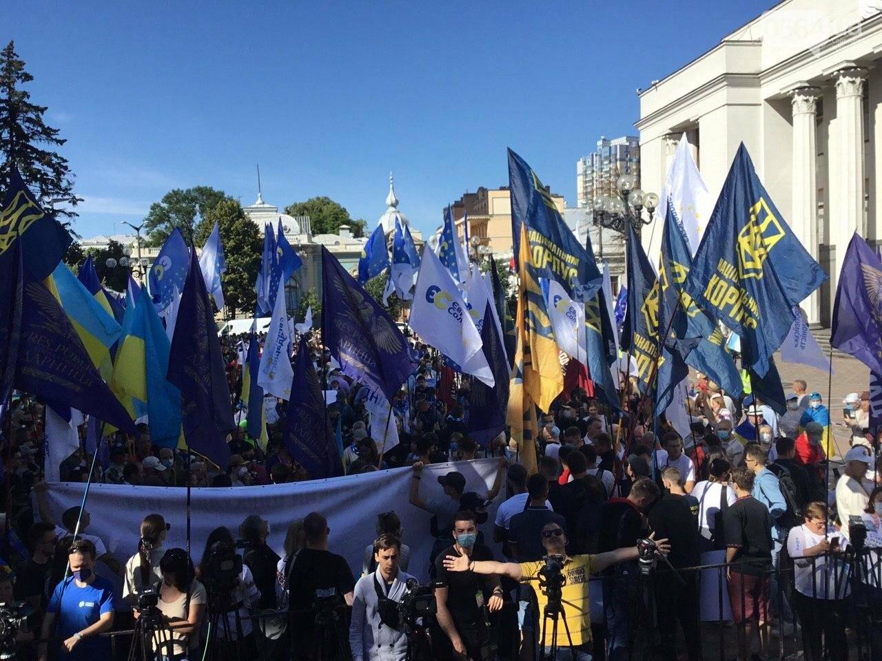 """Руки геть від мови"": под стенами Верховной рады проходит акция протеста, - ФОТО, ВИДЕО, фото-29"
