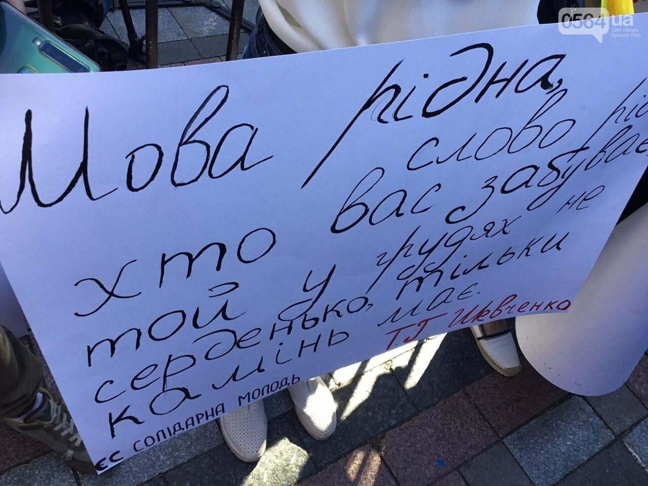 """Руки геть від мови"": под стенами Верховной рады проходит акция протеста, - ФОТО, ВИДЕО, фото-25"