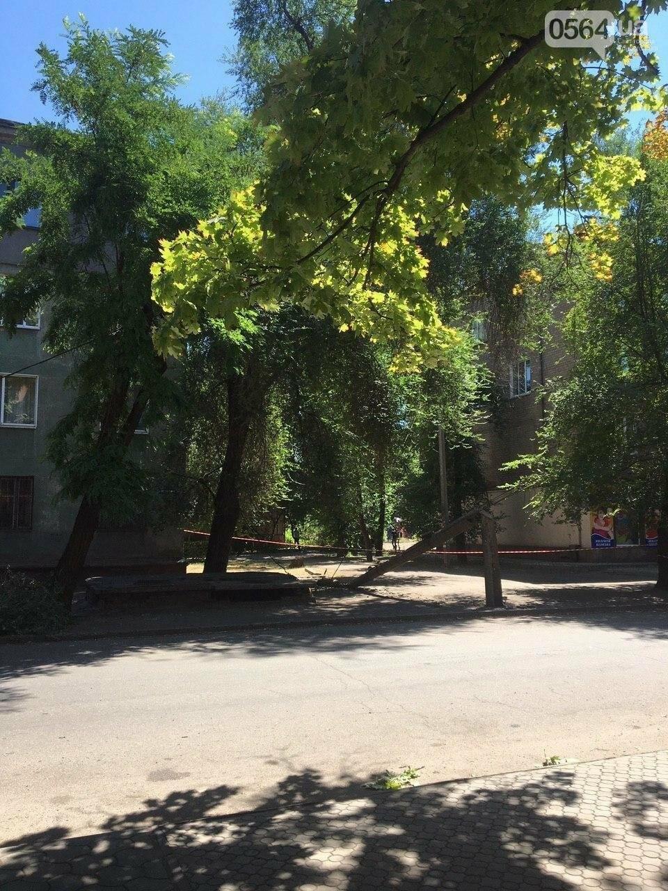 В Кривом Роге сломавшаяся электроопора, удерживаемая каркасом из арматуры, зависла прямо над тротуаром, - ФОТО, фото-8