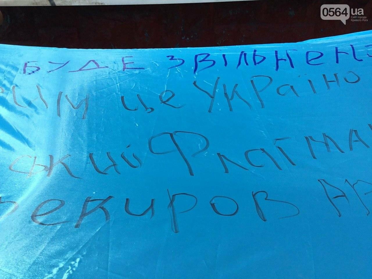 """""""Українці - брати, Разом ми - сила!"""", - какие пожелания и призывы написали криворожане на Знамени Единства, - ФОТО, ВИДЕО, фото-12"""
