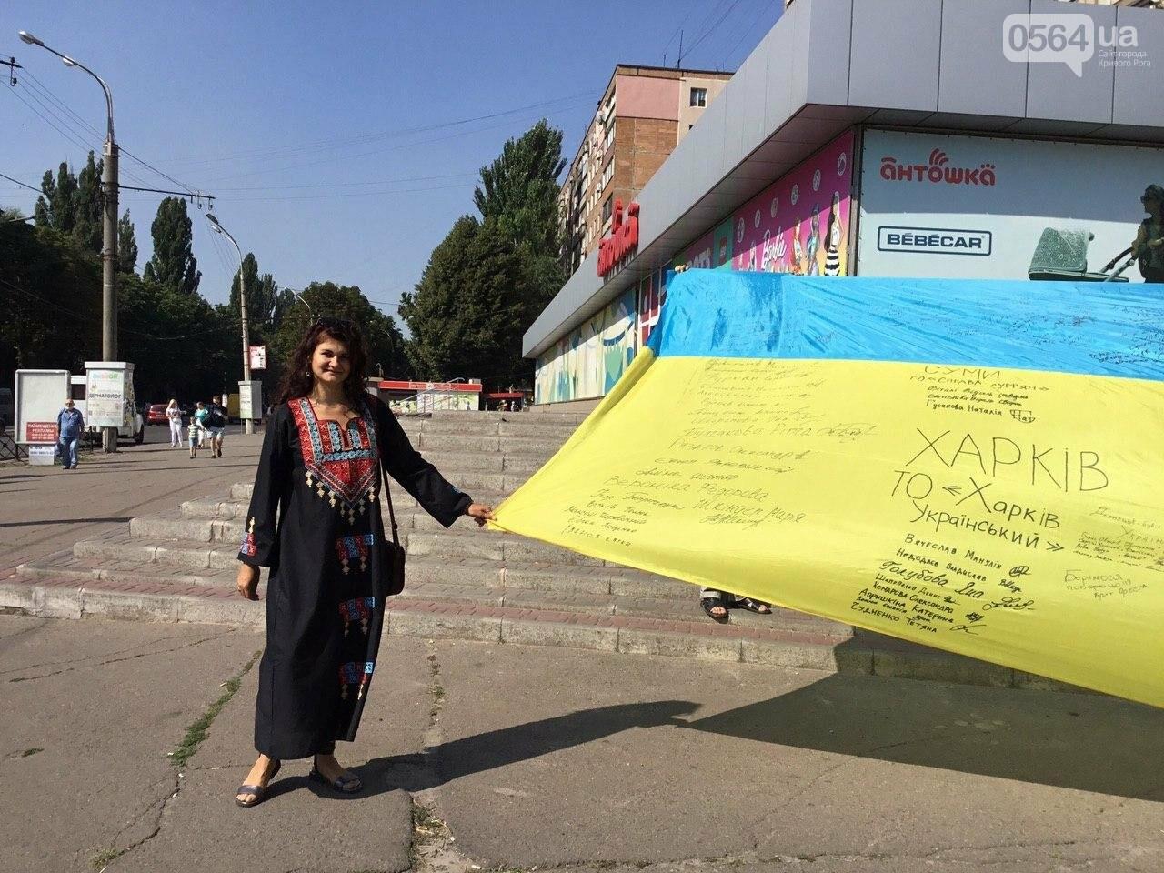 """""""Українці - брати, Разом ми - сила!"""", - какие пожелания и призывы написали криворожане на Знамени Единства, - ФОТО, ВИДЕО, фото-70"""