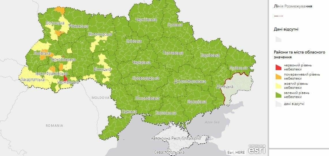 Ukrainu Podelili Na Karantinnye Zony Po Urovnyu Rasprostraneniya Covid 19 Krivoj Rog V Zelenoj Zone Karta Novosti