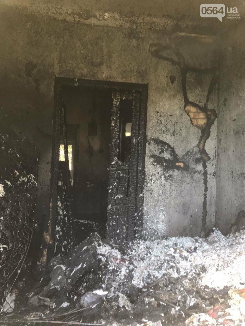 Из горящего дома криворожские спасатели эвакуировали 89-летнюю женщину, фото-3