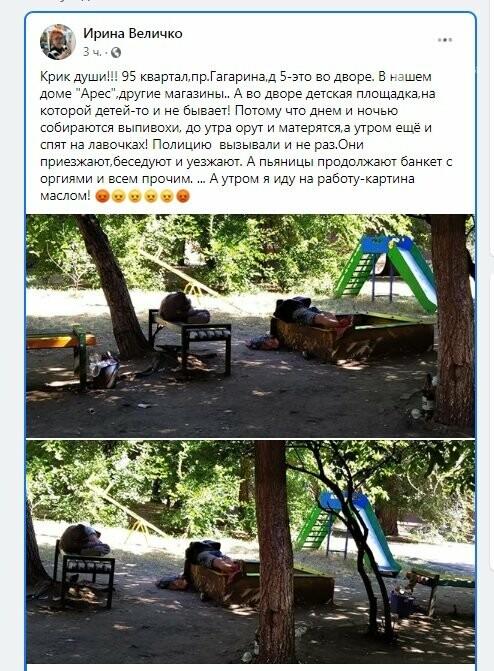 На 95 квартале в Кривом Роге взрослые приспособили детскую площадку для банкетов и отдыха, - ФОТО, фото-1