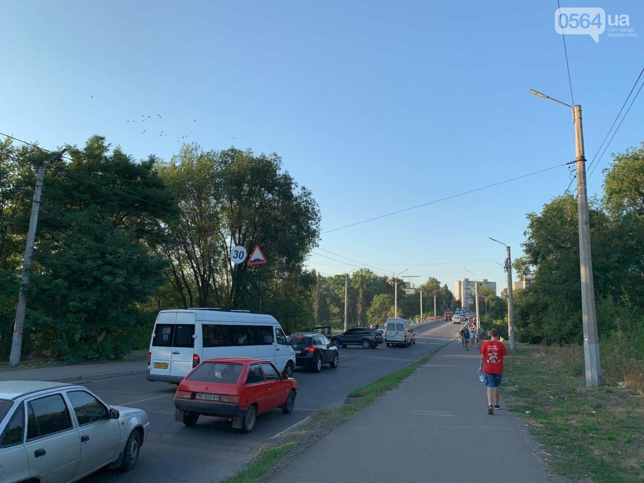 "В Кривом Роге на мосту загорелся ""Opel "", - ФОТО , фото-6"