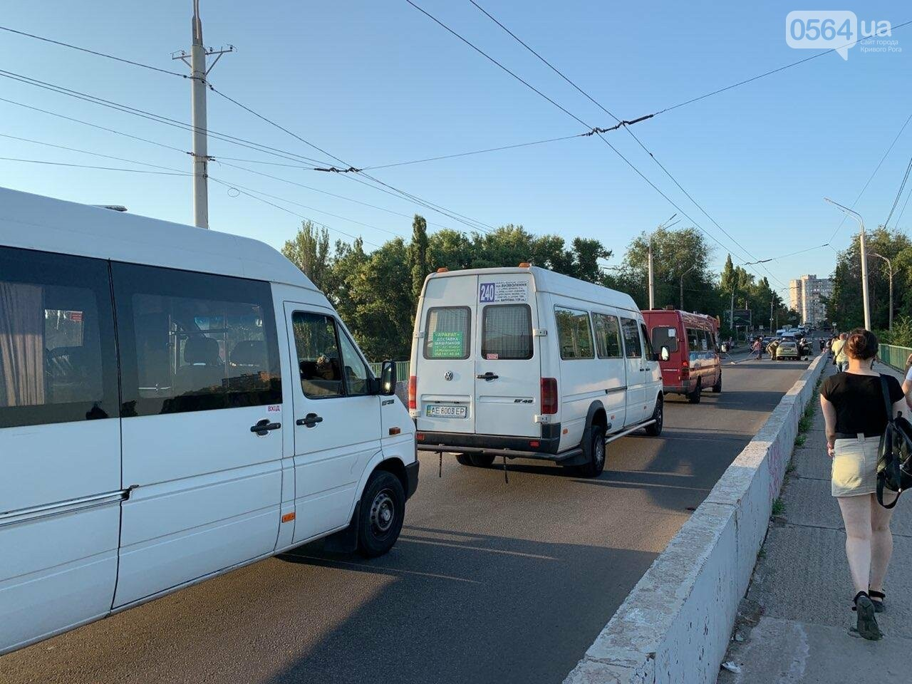 "В Кривом Роге на мосту загорелся ""Opel "", - ФОТО , фото-3"