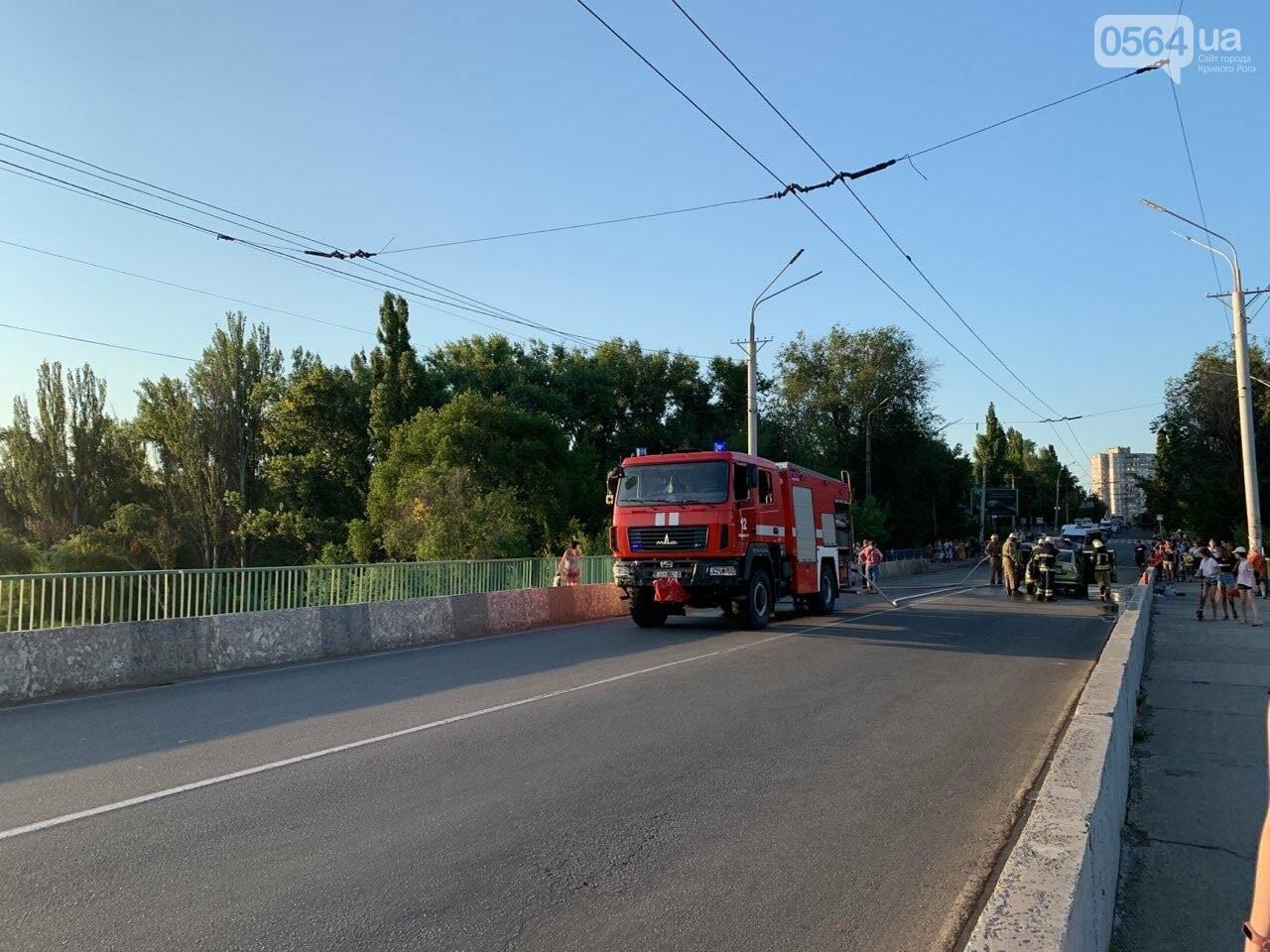 "В Кривом Роге на мосту загорелся ""Opel "", - ФОТО , фото-2"