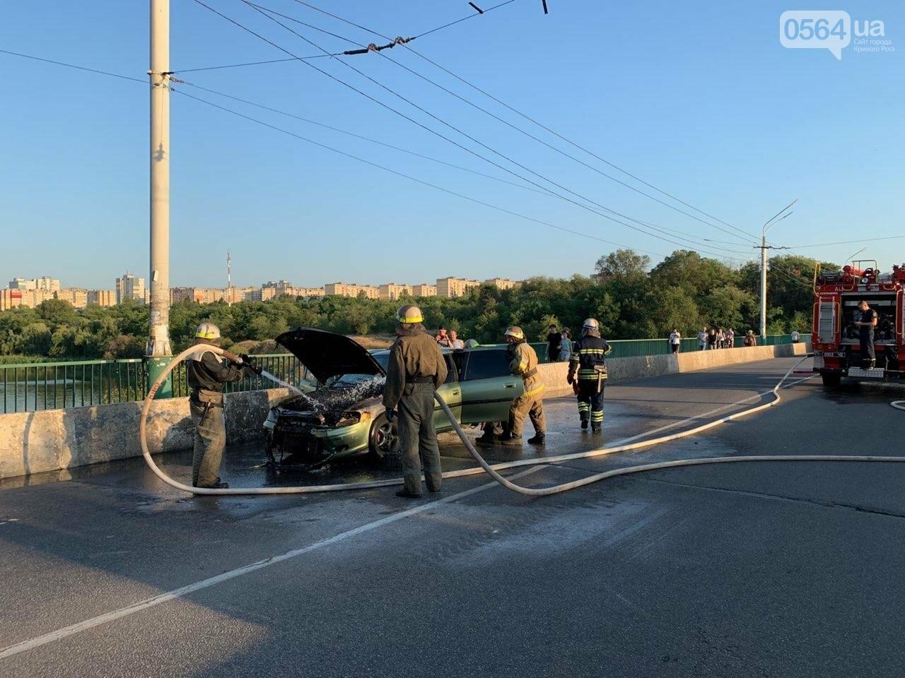 "В Кривом Роге на мосту загорелся ""Opel "", - ФОТО , фото-5"