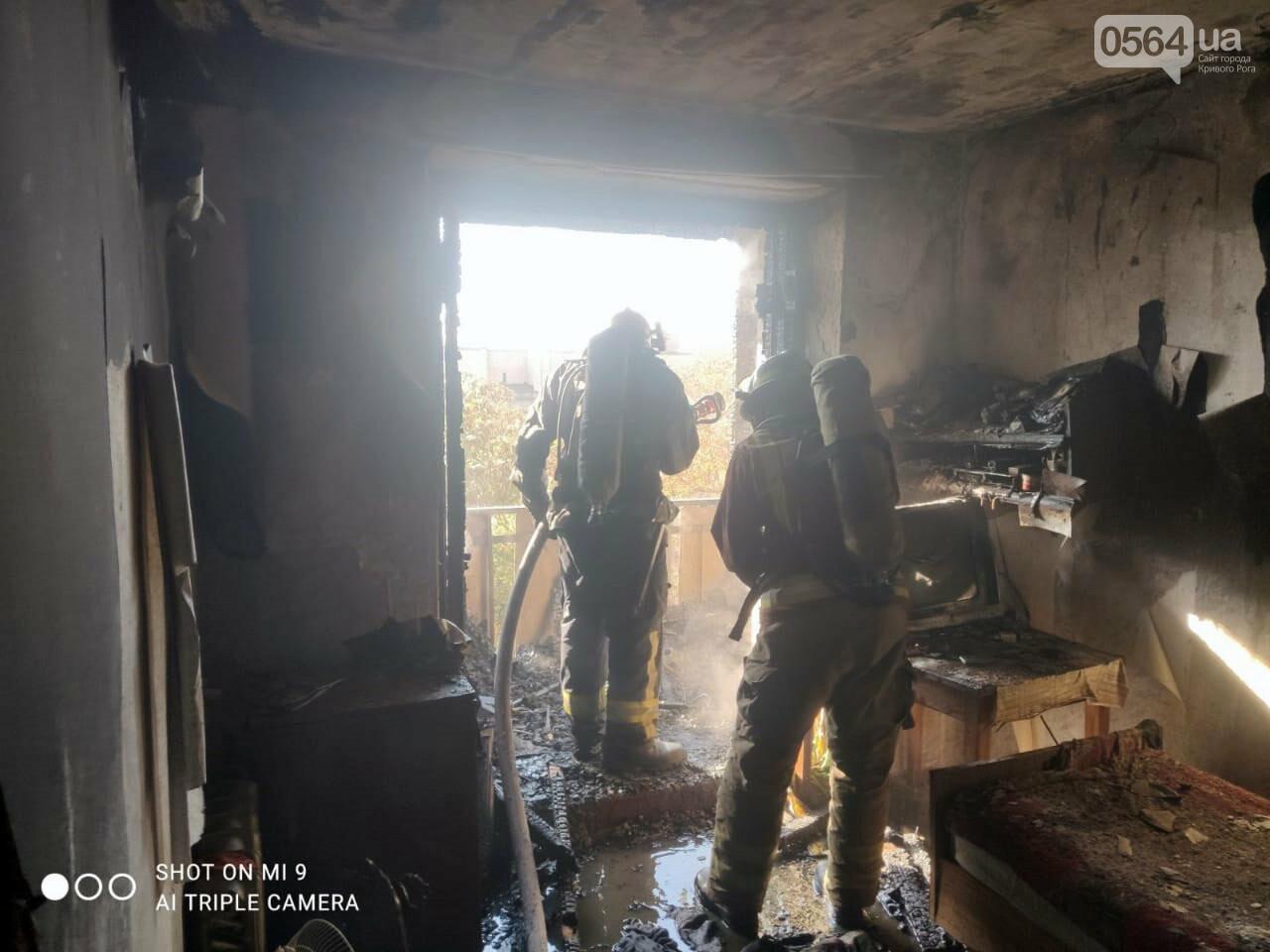 Из задымленной квартиры спасатели вынесли 80-летнюю криворожанку, - ФОТО , фото-1