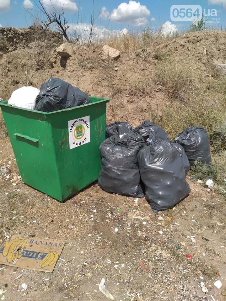 В Кривом Роге на Гранкарьере украли один из двух мусорных контейнеров, - ФОТО , фото-6