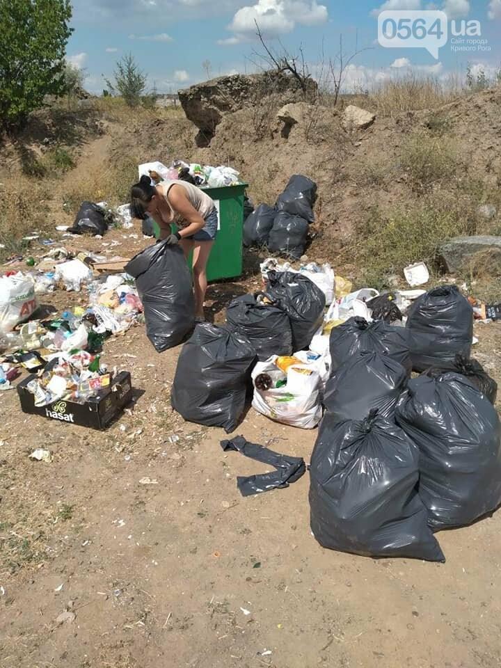 В Кривом Роге на Гранкарьере украли один из двух мусорных контейнеров, - ФОТО , фото-5