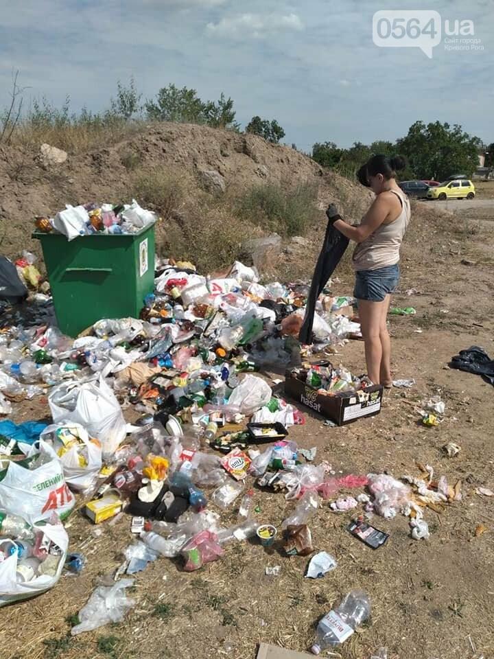 В Кривом Роге на Гранкарьере украли один из двух мусорных контейнеров, - ФОТО , фото-2