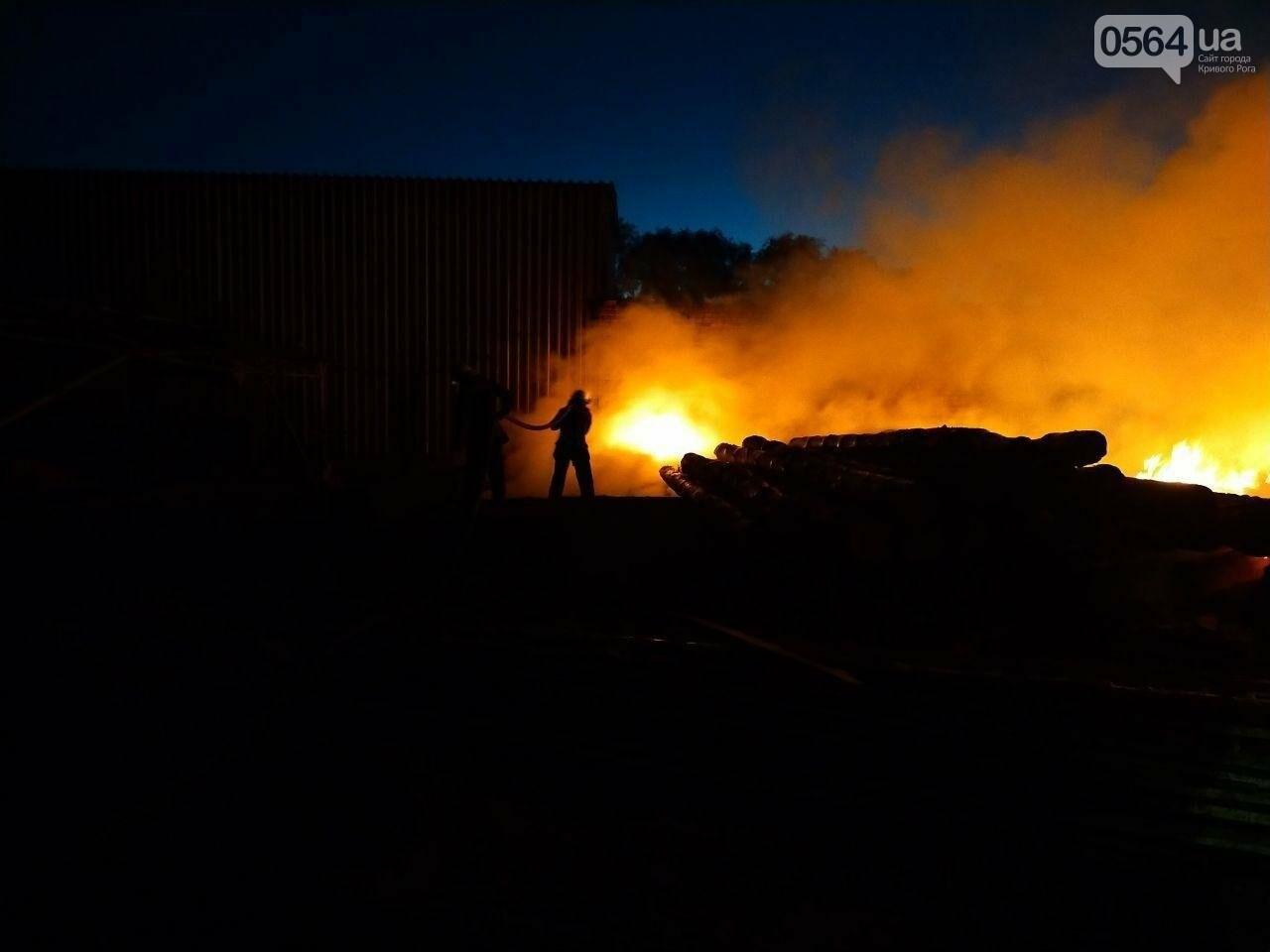 На деревообрабатывающем предприятии Кривого Рога огонь уничтожил несколько сотен квадратных метров бруса, - ФОТО, ВИДЕО, фото-4