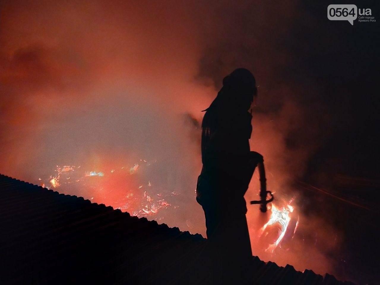 На деревообрабатывающем предприятии Кривого Рога огонь уничтожил несколько сотен квадратных метров бруса, - ФОТО, ВИДЕО, фото-5
