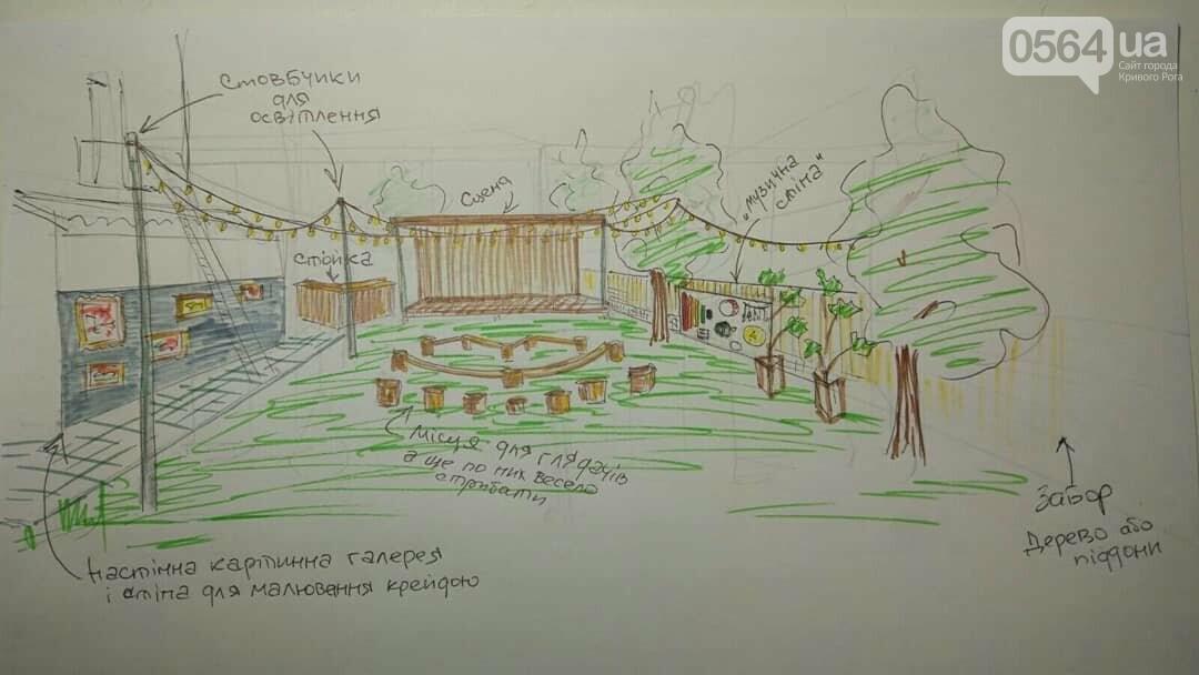 В Кривом Роге хотят создать Арт-площадку для детей и родителей. Нужна помощь, - ЭСКИЗЫ, ВИДЕО, фото-2
