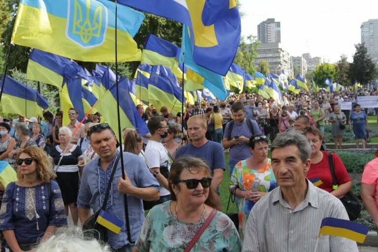 Криворіжці взяли участь в акції опору капітуляції, яка відбулася в Дніпрі, фото-1