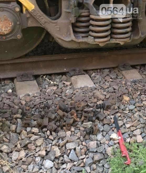 В Кривом Роге рецидивист разбирал на части железную дорогу, - ФОТО , фото-3