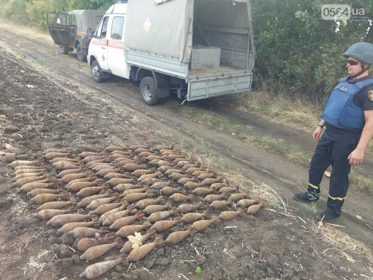 На Днепропетровщине мужчина обнаружил в поле более 100 взрывоопасных предметов, - ФОТО, ВИДЕО, фото-2