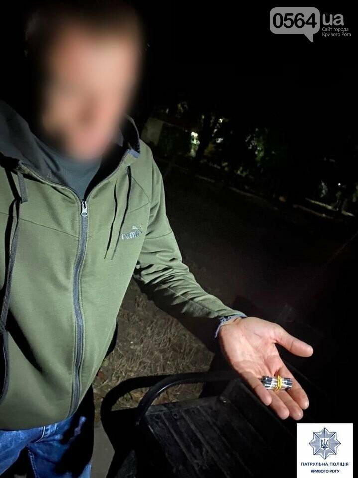 Ночью по Кривому Рогу разгуливал мужчина с наркотиками, - ФОТО , фото-1