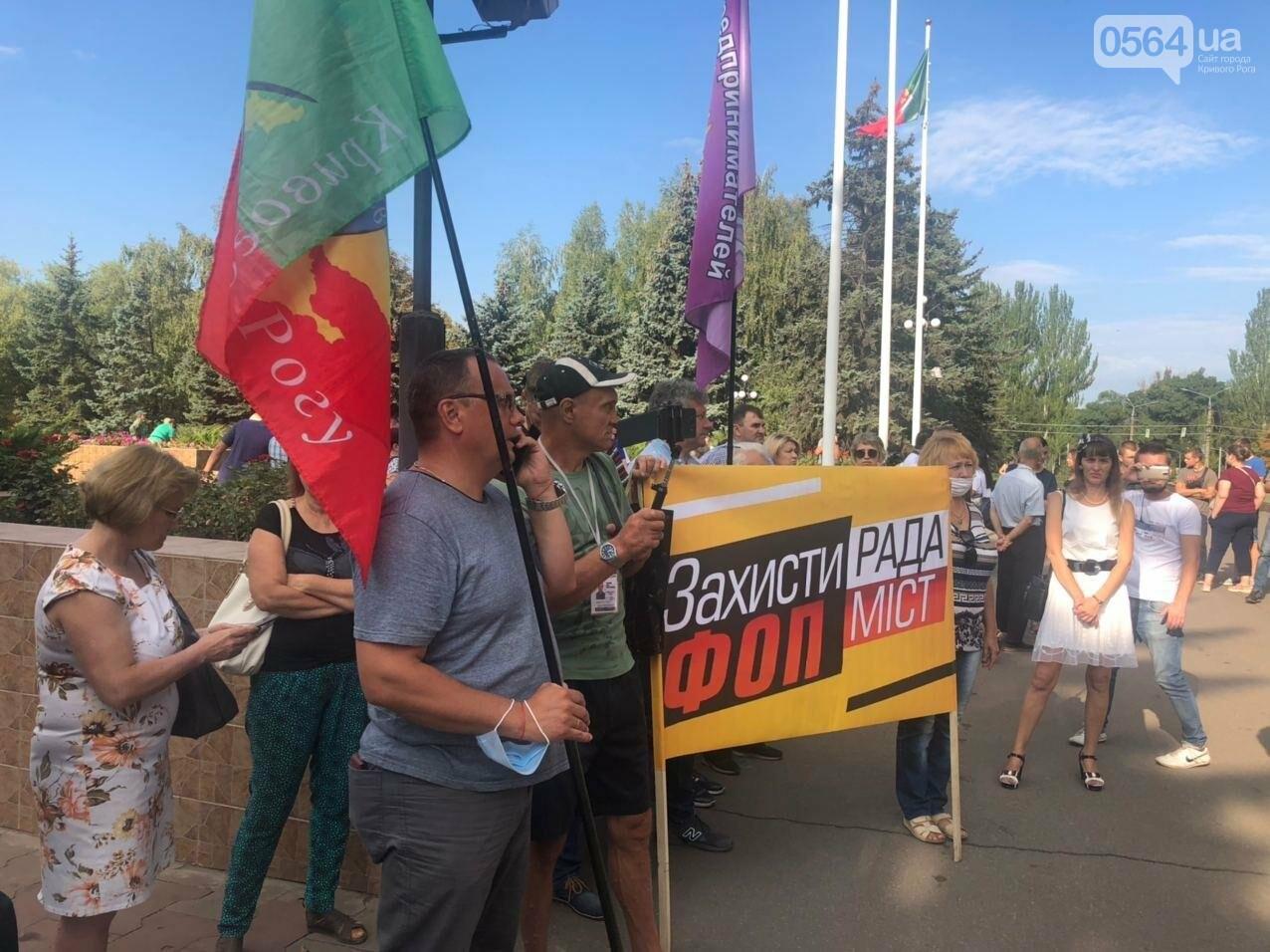 Криворожские предприниматели снова вышли на акцию, - ФОТО, фото-1