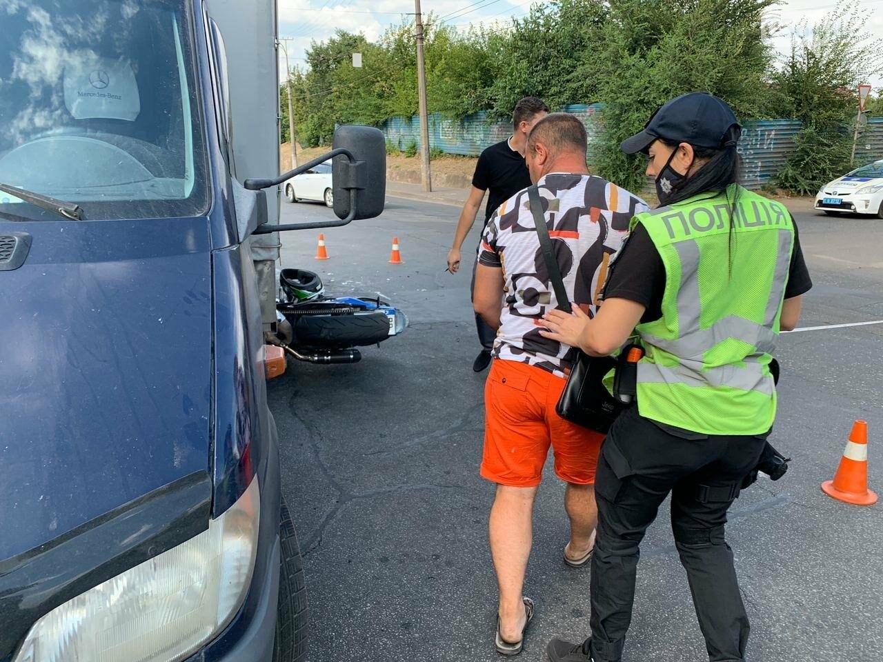 ДТП в Кривом Роге: мотоцикл попал под грузовик, - ФОТО , фото-4