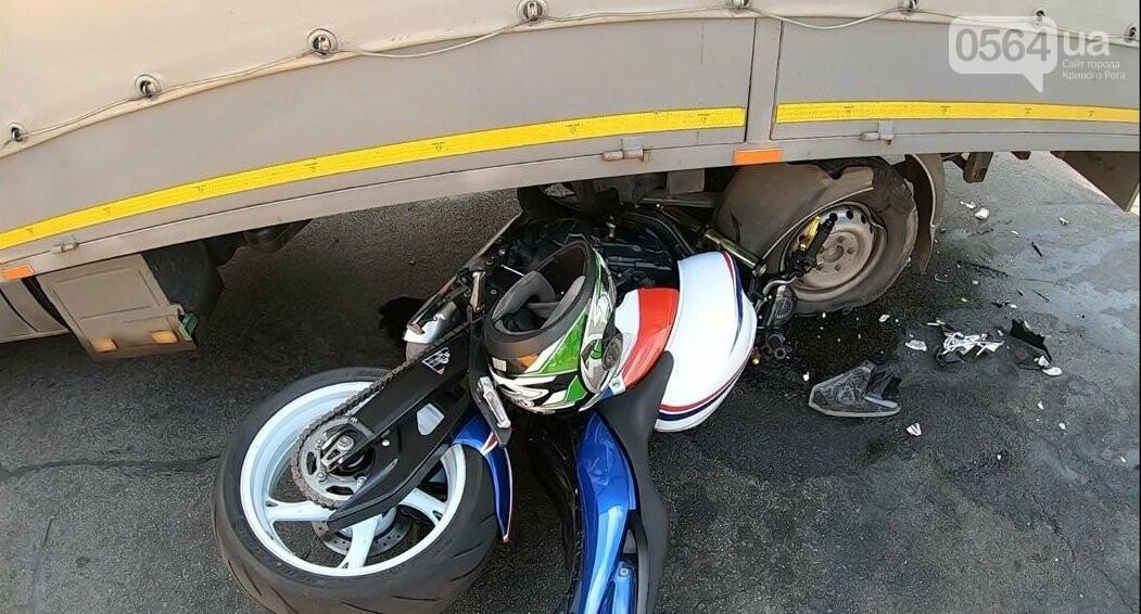 ДТП в Кривом Роге: мотоцикл попал под грузовик, - ФОТО , фото-7